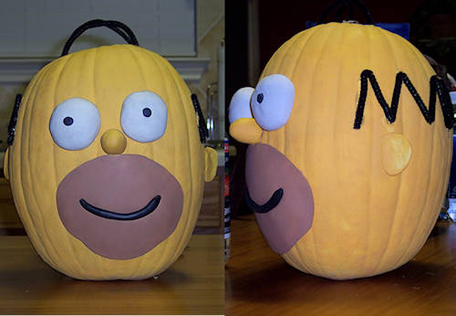 Homersimpson savedollarblog i came across some really clever pumpkin decorating ideasto spice up the look of your front porch this halloweenis puts a whole new spin on pumpkin pronofoot35fo Image collections